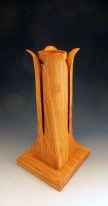 porte-cierge en bois
