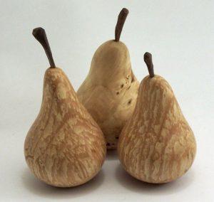 poires en bois
